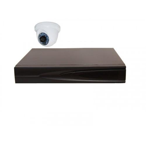 Комплект AHD видеонаблюдения из 1 внутренней AHD камеры 1 мп. и видеорегистратора