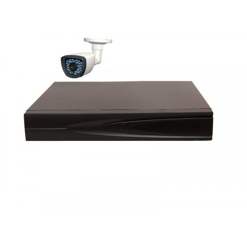 Комплект AHD видеонаблюдения из 1 уличной всепогодной AHD камеры 1 мп. и видеорегистратора.