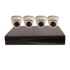 Комплект AHD видеонаблюдения из 4 внутренних AHD камер 2 мп. и 4 канальный видеорегистратор