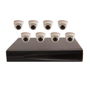 Комплект AHD видеонаблюдения из 8 внутренних AHD камер 2 мп. и 8 канальный видеорегистратор