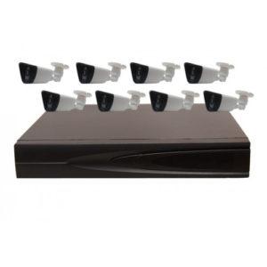Комплект AHD видеонаблюдения из 8 уличных всепогодных AHD камер 2 мп. и 8 канальный видеорегистратор