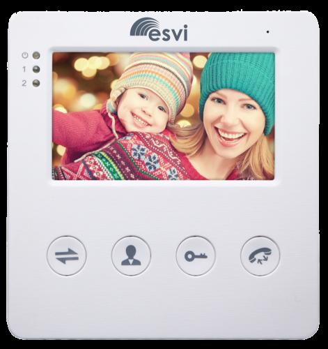 """EVJ-4(w) цветной 4.3"""" видеодомофон на две вызывные панели, слот microSD"""