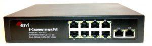 POE-822 коммутатор PoE 8+2 портов, металлический корпус