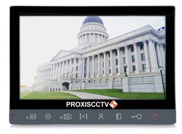 """PX-DP100 цветной 10"""" AHD видеодомофон на две вызывные панели, слот microSD"""