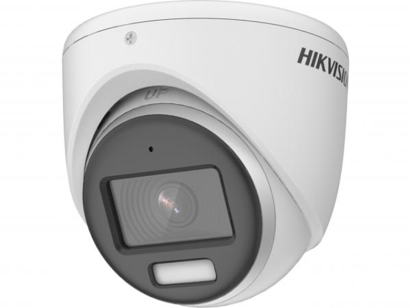 2Мп уличная купольная HD-TVI камера с LED подсветкой до 20м и встроенным микрофоном (AoC)