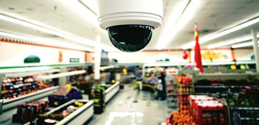 Установка системы видеонаблюдения в супермаркете