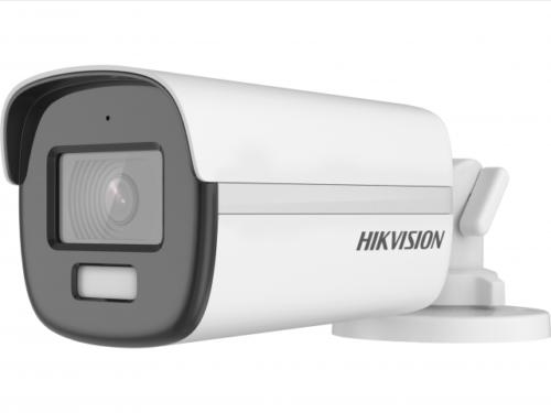уличная компактная цилиндрическая HD-TVI камера с LED подсветкой