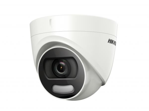 уличная купольная HD-TVI камера с LED подсветкой до 20м и технологией ColorVu
